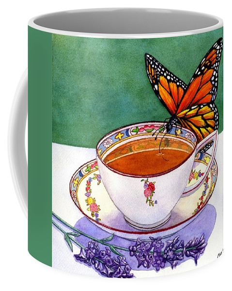 Butterfly Coffee Mug featuring the painting Sweet by Catherine G McElroy