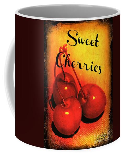 Cherries Coffee Mug featuring the photograph Sweet Cherries - Kitchen Art by Carol Groenen