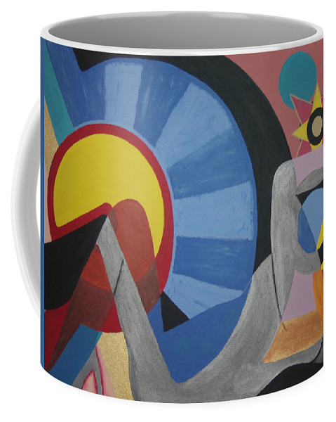 Abstract Coffee Mug featuring the painting Sweet Dreams Are Made Of These by Dean Stephens