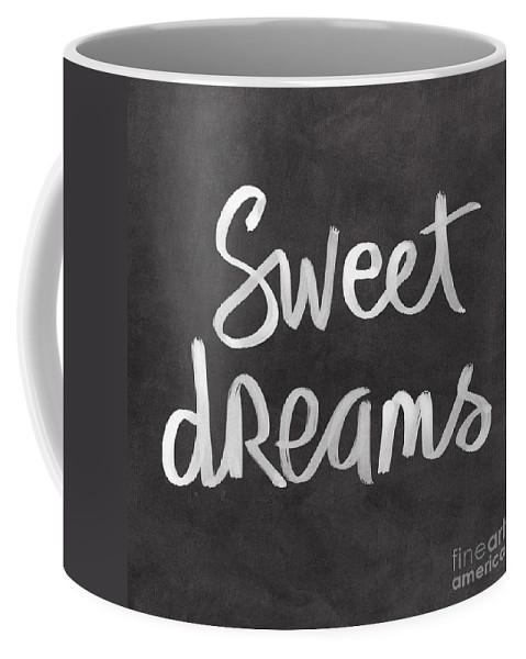 Dreams Coffee Mug featuring the mixed media Sweet Dreams by Linda Woods