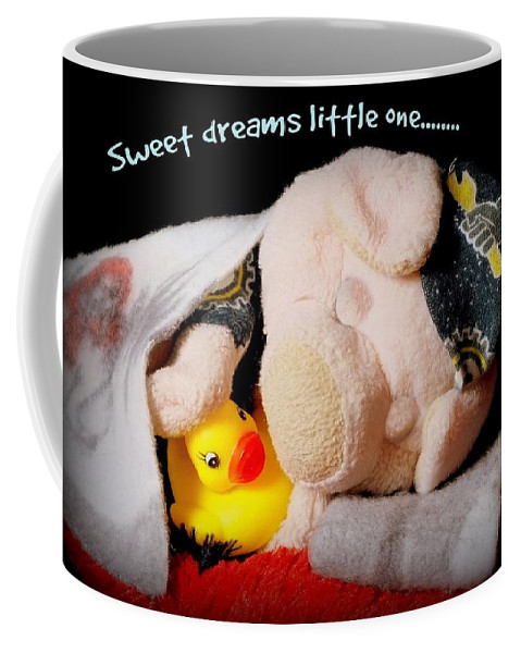 Bed Coffee Mug featuring the photograph Sweet Dreams Little One by Piggy