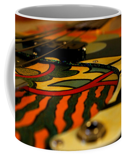 Fender Coffee Mug featuring the photograph Sweet Fender Precision Bass by Fiona Kennard