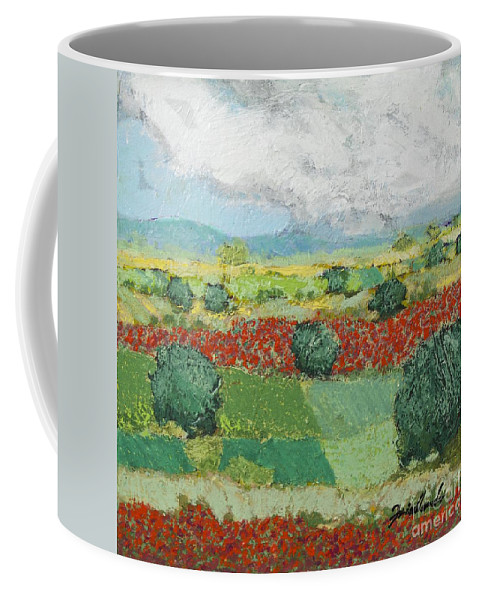 Landscape Coffee Mug featuring the painting Sweet Light by Allan P Friedlander