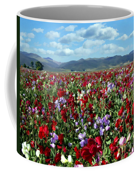Flowers Coffee Mug featuring the photograph Sweet Peas Forever by Kurt Van Wagner