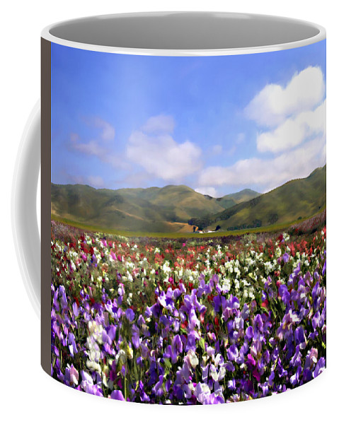 Flowers Coffee Mug featuring the photograph Sweet Peas Galore by Kurt Van Wagner