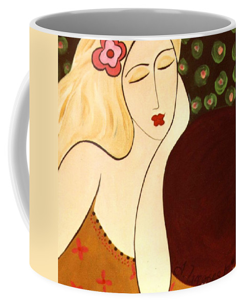 #female Coffee Mug featuring the painting Sweet Sixteen by Jacquelinemari