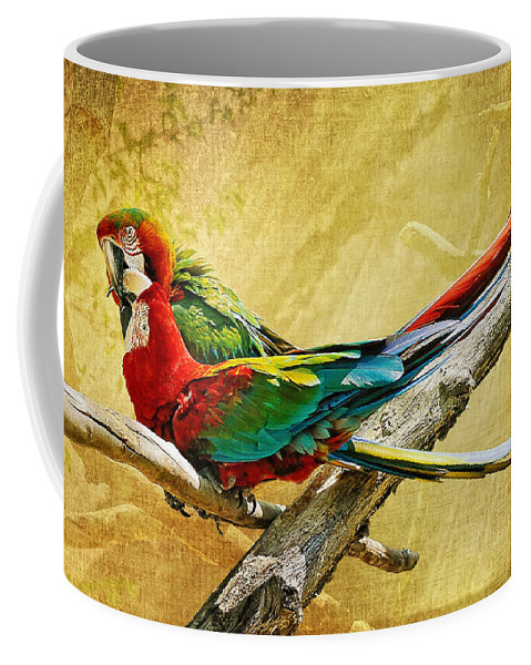 Parrot Coffee Mug featuring the photograph Sweet Sweet Love by Lois Bryan