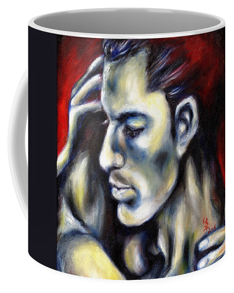 Man Coffee Mug featuring the painting Sweetest Taboo by Hiroko Sakai