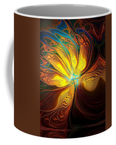 Digital Art Coffee Mug featuring the digital art Swept Away by Amanda Moore
