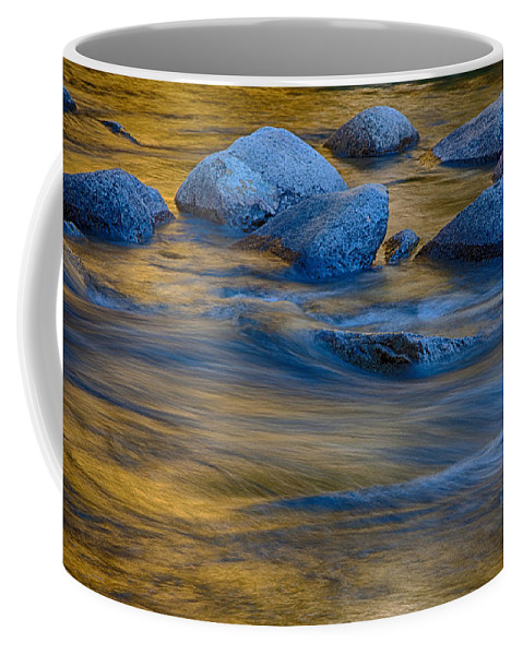 Autumn Foliage New England Coffee Mug featuring the photograph Swiftriver Reflections by Jeff Folger