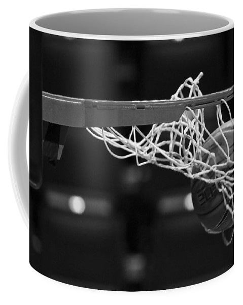 Monochrome Coffee Mug featuring the photograph Swish by Laddie Halupa