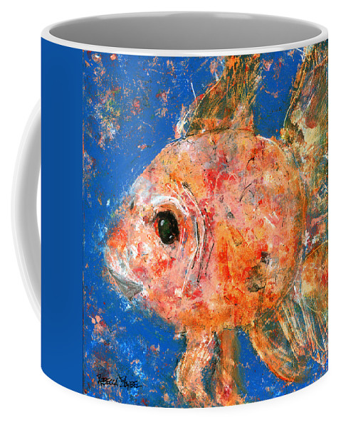 Fish Coffee Mug featuring the painting Swishy Fishy by Rebecca Zdybel