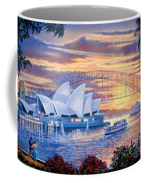 Steve Crisp Coffee Mug featuring the digital art Sydney Opera House by Steve Crisp