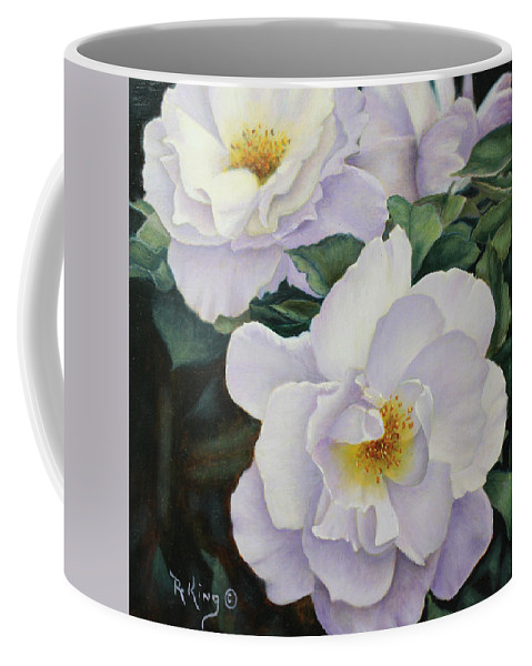 Roena King Coffee Mug featuring the painting Sydneys Rose Oil Painting by Roena King