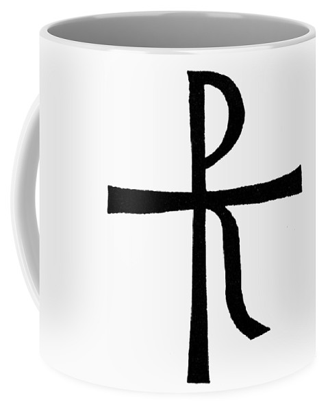 Chrismon Coffee Mug featuring the painting Symbol Christ by Granger
