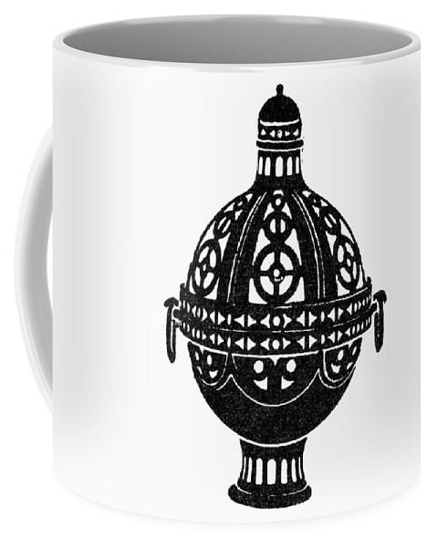 Burner Coffee Mug featuring the painting Symbol Incense Burner by Granger