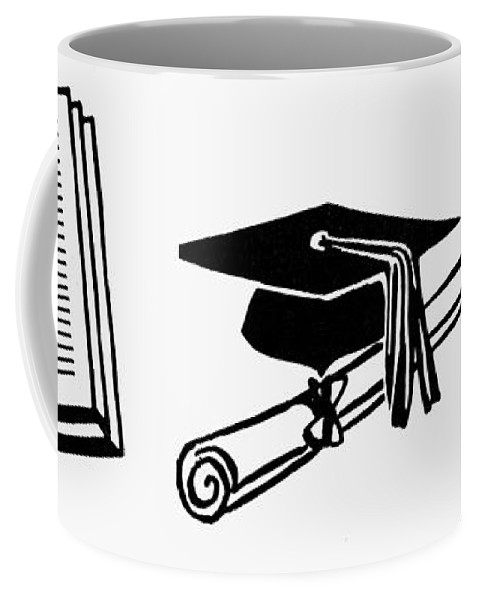 Academic Coffee Mug featuring the painting Symbols Education by Granger