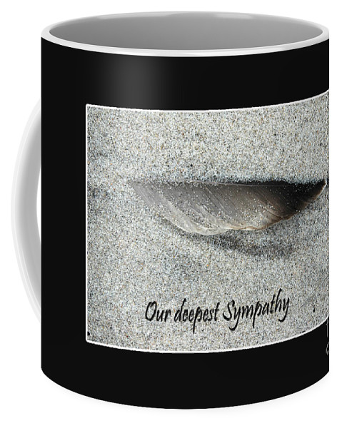 Sorrow Coffee Mug featuring the photograph Sympathy Feather by Randi Grace Nilsberg
