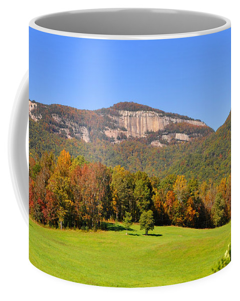 South Carolina Coffee Mug featuring the photograph Table Rock In Autumn by Lydia Holly