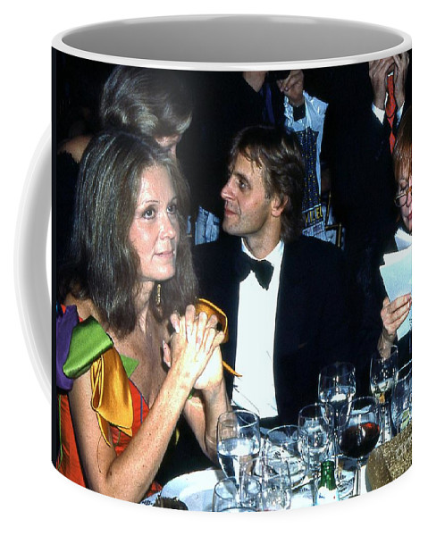 The Plaza Hotel Coffee Mug featuring the photograph Table Talk 1990 by Ed Weidman