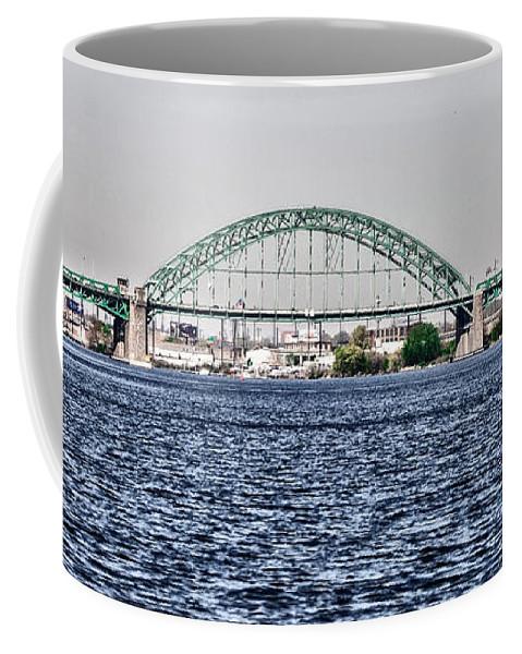 Tacony Coffee Mug featuring the photograph Tacony Bridge by Bill Cannon