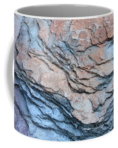 Nature Abstract Coffee Mug featuring the photograph Tahoe Rock Formation by Carol Groenen