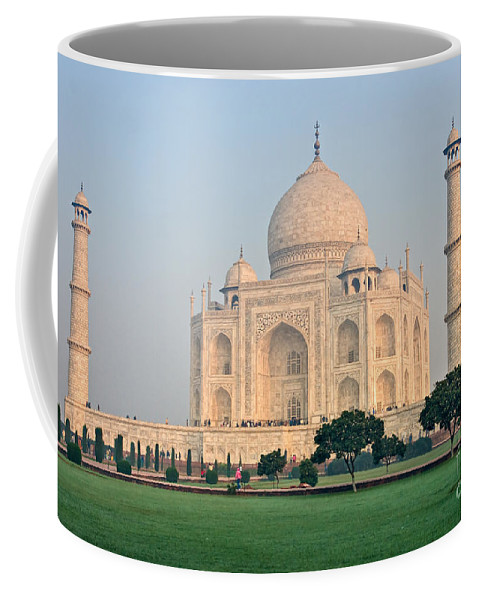 � Adventure Coffee Mug featuring the photograph Taj Mahal At Sunrise - Agra - Uttar Pradesh - India by Luciano Mortula