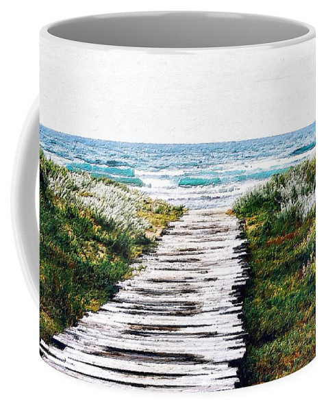 Wood Coffee Mug featuring the painting Take Me To The Sea by Florian Rodarte