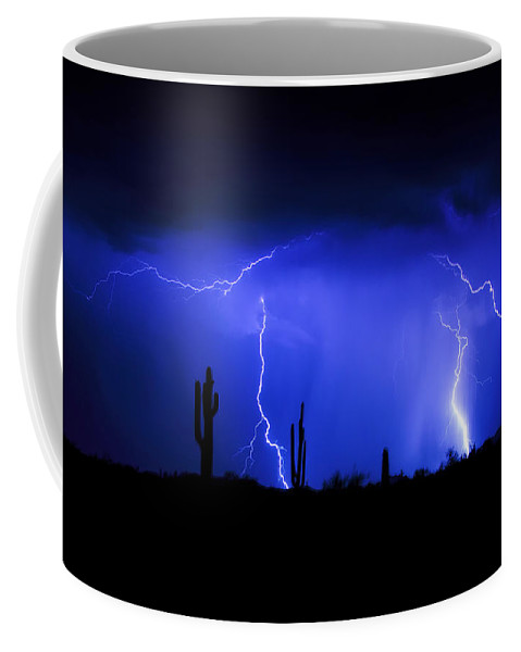 Lightning Coffee Mug featuring the photograph Take The Bull By The Horns by Saija Lehtonen