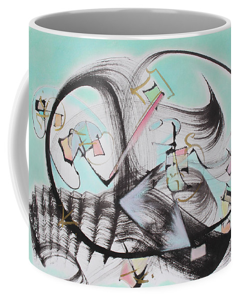 Abstract Painting Coffee Mug featuring the painting Take the Plunge by Asha Carolyn Young