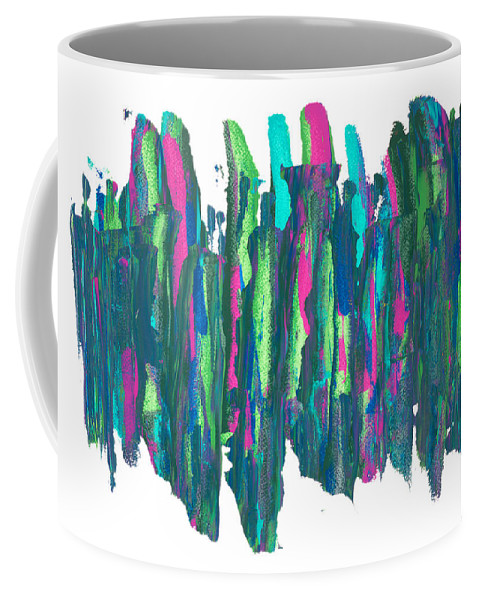 Abstract Coffee Mug featuring the painting Talking Walking by Bjorn Sjogren