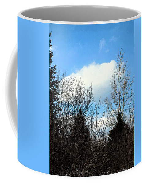 Birch Coffee Mug featuring the photograph Tall Birch by William Tasker