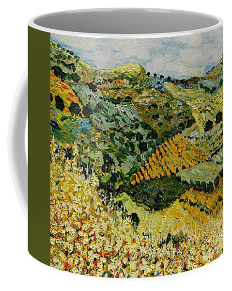 Landscape Coffee Mug featuring the painting Tall Grass by Allan P Friedlander