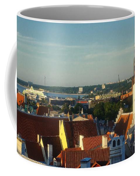 Europe Coffee Mug featuring the photograph Tallinn Old Town 3 by Rudi Prott