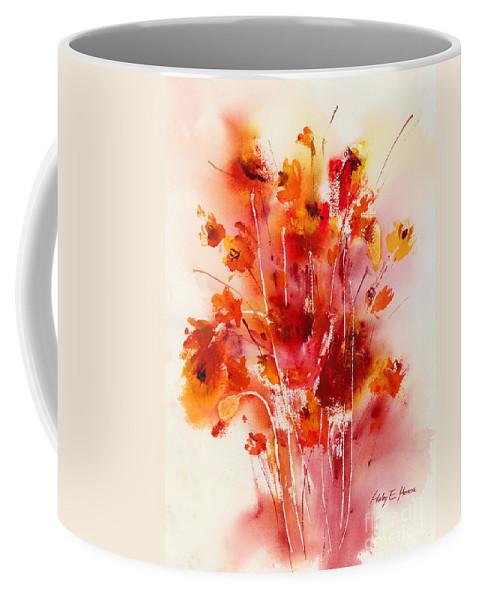 Flowers Coffee Mug featuring the painting Tangerine Tango by Hailey E Herrera