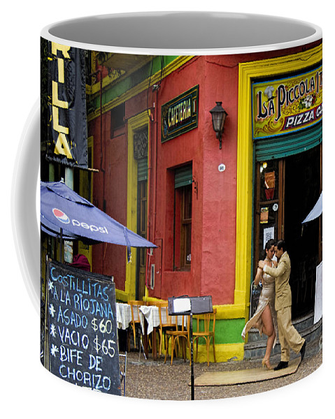 Buenos Aires Coffee Mug featuring the photograph Tango Dancing In La Boca by David Smith