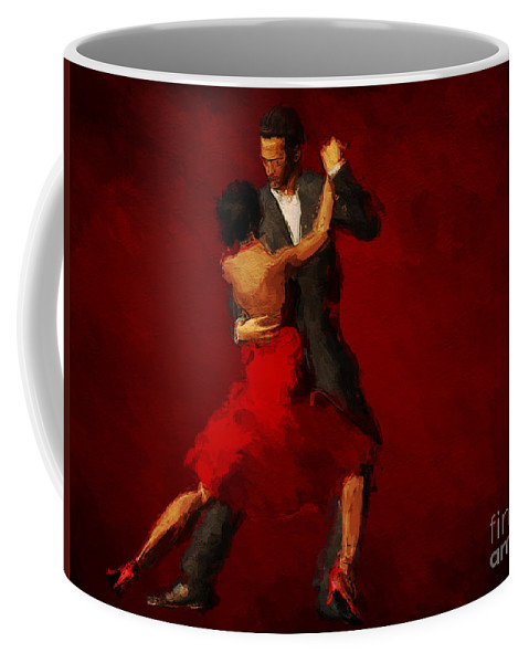 Tango Painting Coffee Mug featuring the painting Tango by John Edwards