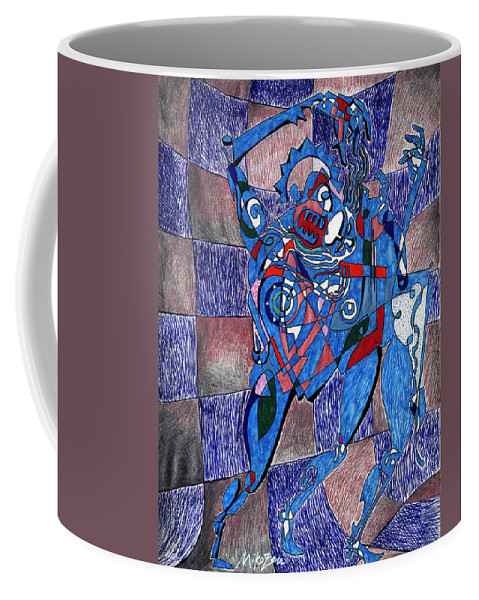 Dance Coffee Mug featuring the painting Tango by Miko At The Love Art Shop