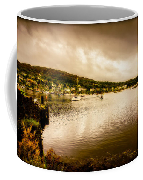 Antique Coffee Mug featuring the photograph Tarbert Bay Scotland by Mark Llewellyn