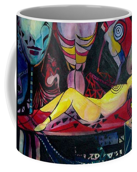 Women Coffee Mug featuring the painting Target Practice by Carolyn LeGrand