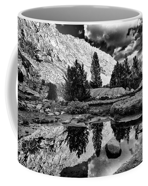 Water Coffee Mug featuring the photograph Tarn Reflection by Cat Connor