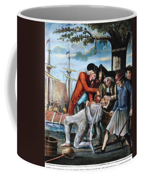 1773 Coffee Mug featuring the photograph Tarring & Feathering, 1773 by Granger
