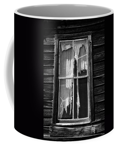 Black Coffee Mug featuring the photograph Tattered And Torn by Cat Connor