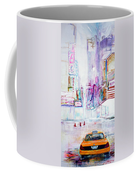 Taxi Coffee Mug featuring the painting Taxi Eight Show Time by Jack Diamond