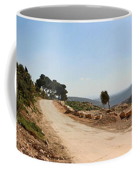 Taybeh Coffee Mug featuring the photograph Taybeh Side Road by Munir Alawi