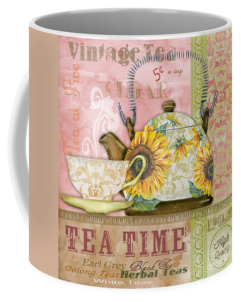 Painting Coffee Mug featuring the painting Tea Time-jp2579 by Jean Plout