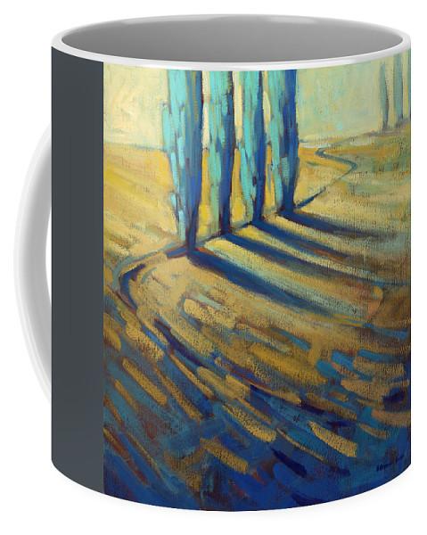 California Coffee Mug featuring the painting Teal by Konnie Kim