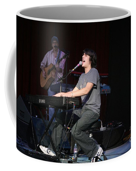 Vocals Coffee Mug featuring the photograph Teddy Geiger by Concert Photos