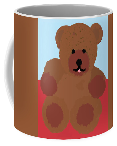 Teddy Bear Coffee Mug featuring the pastel Teddy Snapshot by Pharris Art