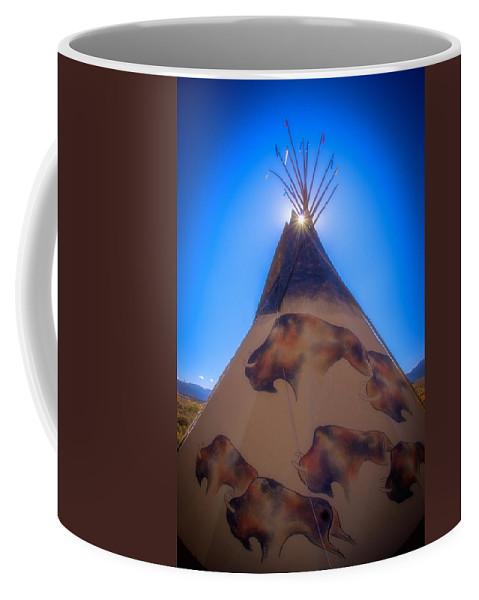 New Mexico Coffee Mug featuring the photograph Teepee by Joye Ardyn Durham